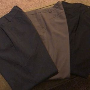 3 Pairs of Ann Taylor Pants. Size 6 Curvy